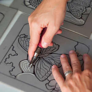 Relief Block Printing Class with artist Molly Johnson