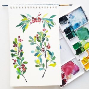Holiday Watercolor Card & Gift Tag Workshop: Dec. 7, 10-1pm