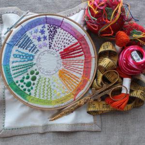Embroidery Color Wheel Sampler Workshop: Sep. 29, 10-2pm