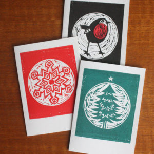 Holiday Class!  Relief Block Card Making: 11/29, 1-4pm